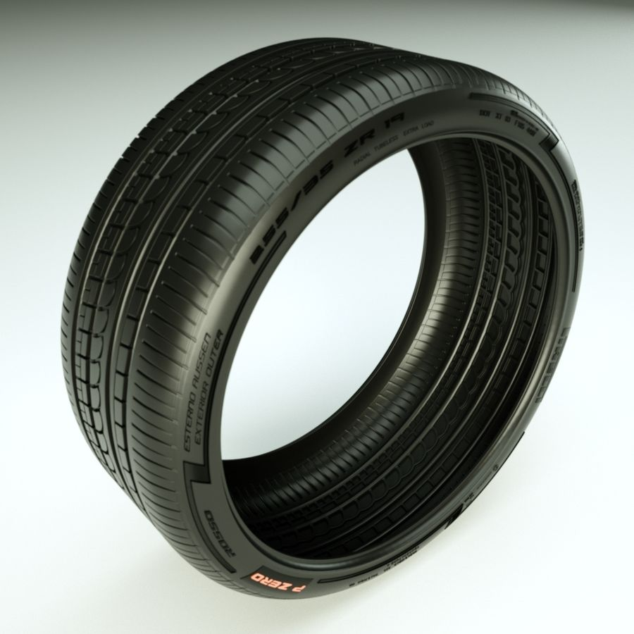 Pirelli Pzero Rosso tire tyre royalty-free 3d model - Preview no. 1
