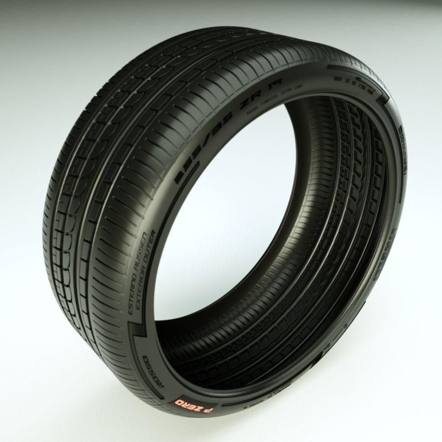 Pirelli Pzero Rosso 타이어 타이어 royalty-free 3d model - Preview no. 1