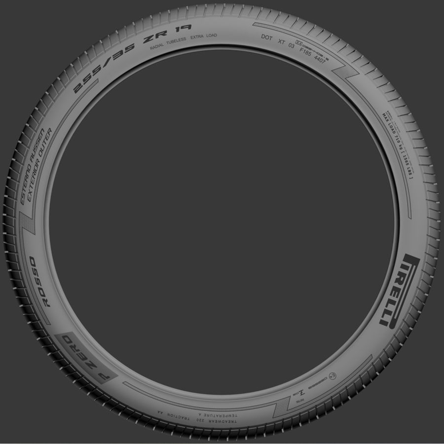 Pirelli Pzero Rosso tire tyre royalty-free 3d model - Preview no. 3