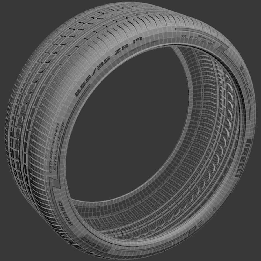 Pirelli Pzero Rosso tire tyre royalty-free 3d model - Preview no. 4