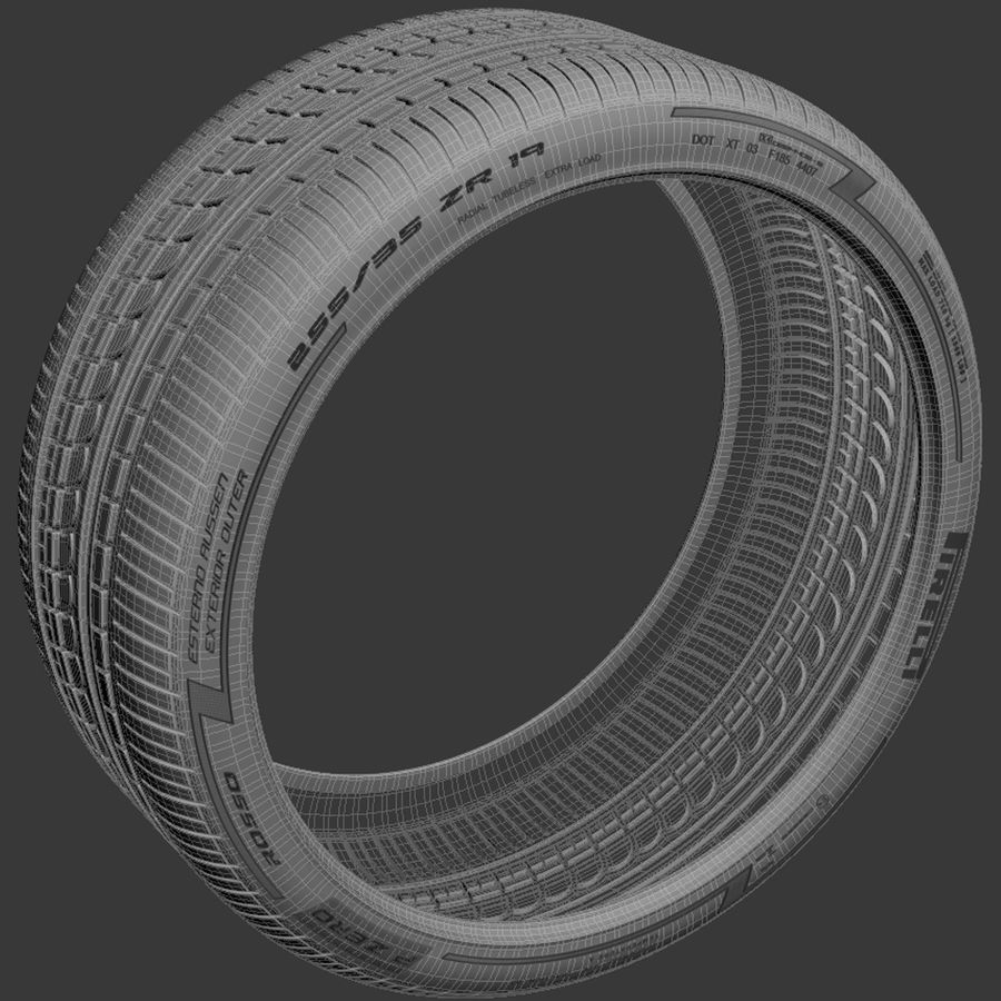 Pirelli Pzero Rosso tire tyre royalty-free 3d model - Preview no. 5