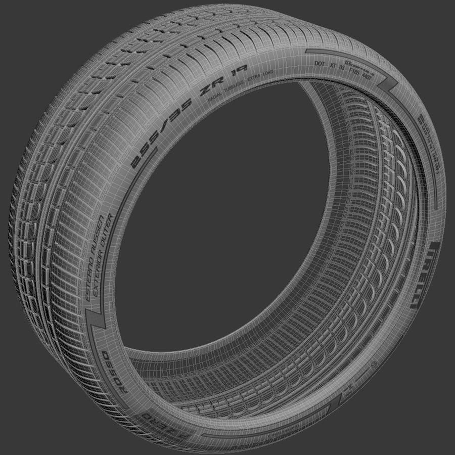 Pirelli Pzero Rosso 타이어 타이어 royalty-free 3d model - Preview no. 5