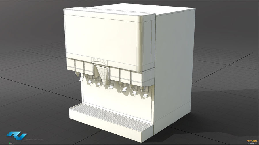 Soda Fountain royalty-free 3d model - Preview no. 5