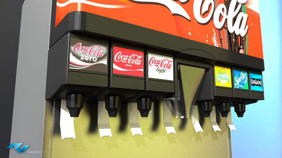 Soda Fountain royalty-free 3d model - Preview no. 3