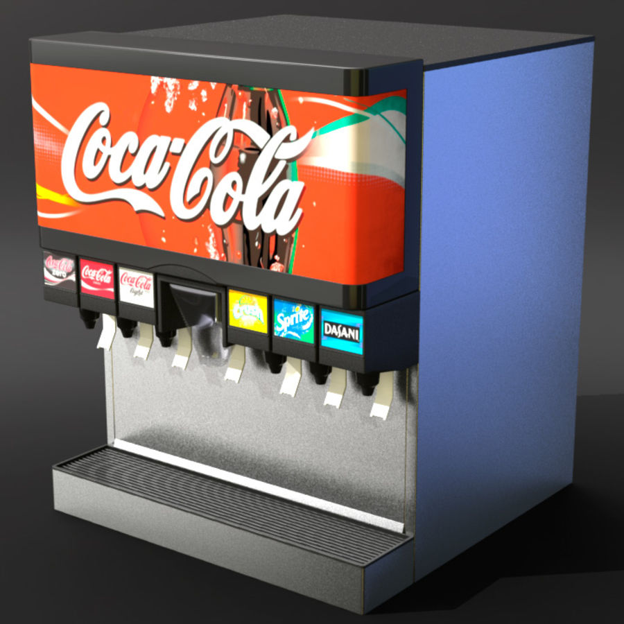 Soda Fountain royalty-free 3d model - Preview no. 2