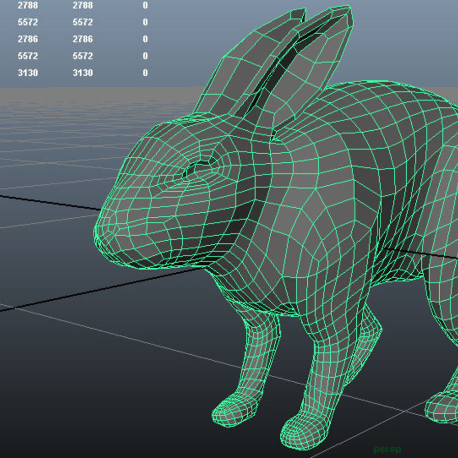 Rabbit(1) royalty-free 3d model - Preview no. 1