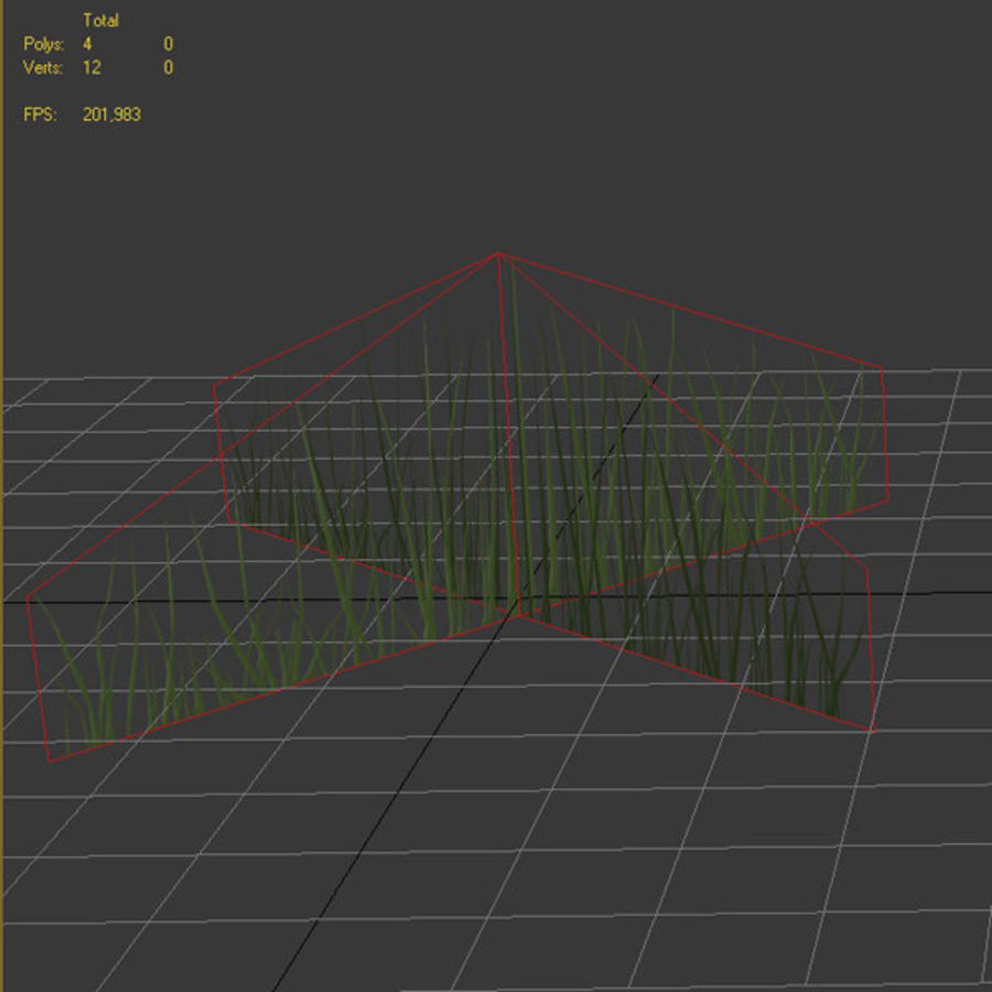 Низкополигональная трава (1) royalty-free 3d model - Preview no. 5