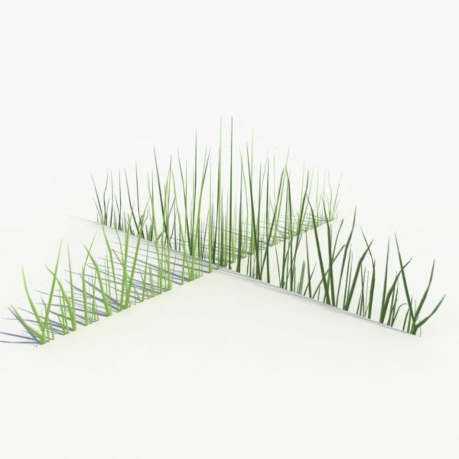 Низкополигональная трава (1) royalty-free 3d model - Preview no. 2