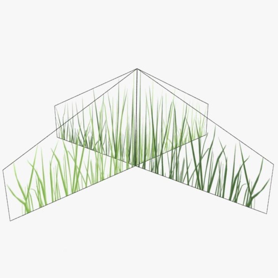 Низкополигональная трава (1) royalty-free 3d model - Preview no. 3