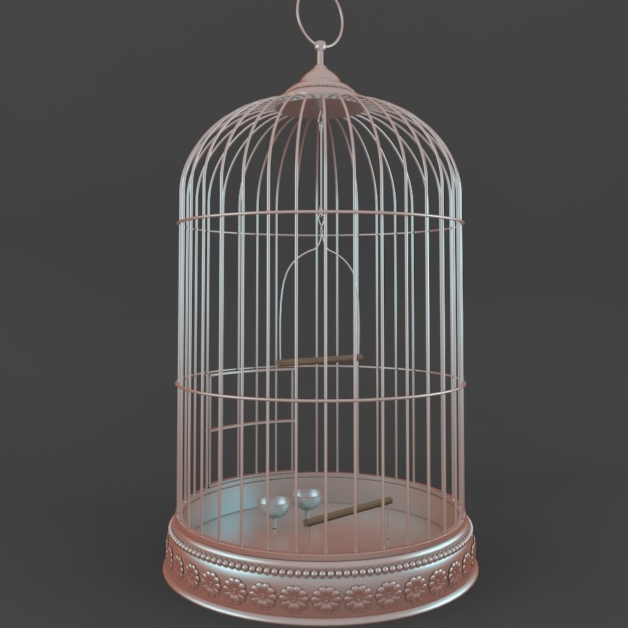 Vogelkooi royalty-free 3d model - Preview no. 3