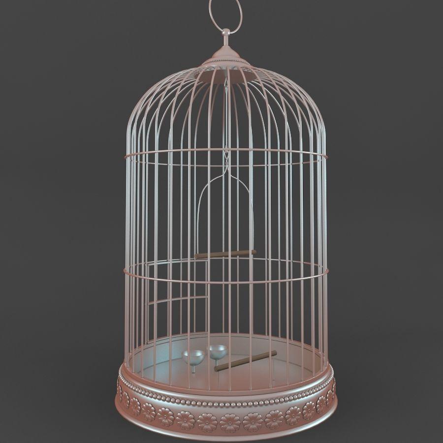 Клетка для птиц royalty-free 3d model - Preview no. 3
