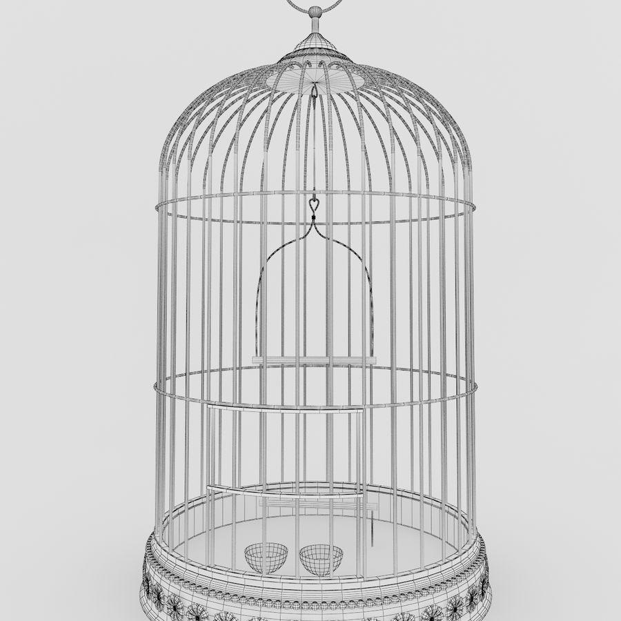 Клетка для птиц royalty-free 3d model - Preview no. 5
