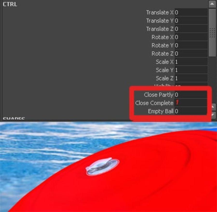 Pelota de playa royalty-free modelo 3d - Preview no. 17