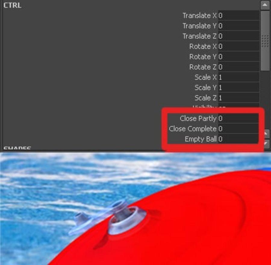 Pelota de playa royalty-free modelo 3d - Preview no. 19