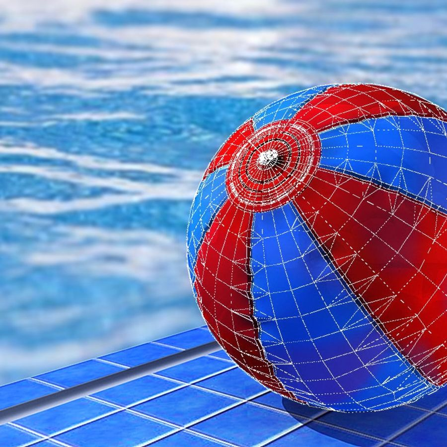 Beach Ball royalty-free 3d model - Preview no. 20
