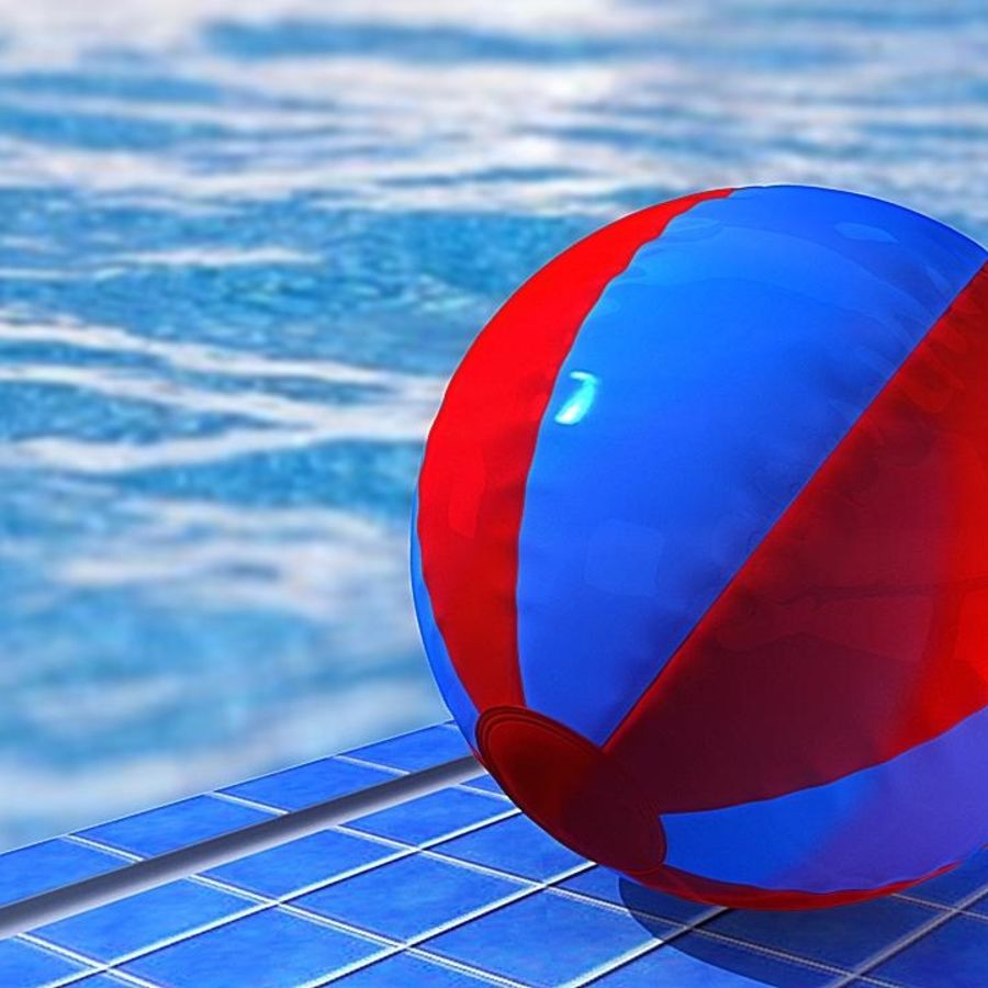 Beach Ball royalty-free 3d model - Preview no. 14