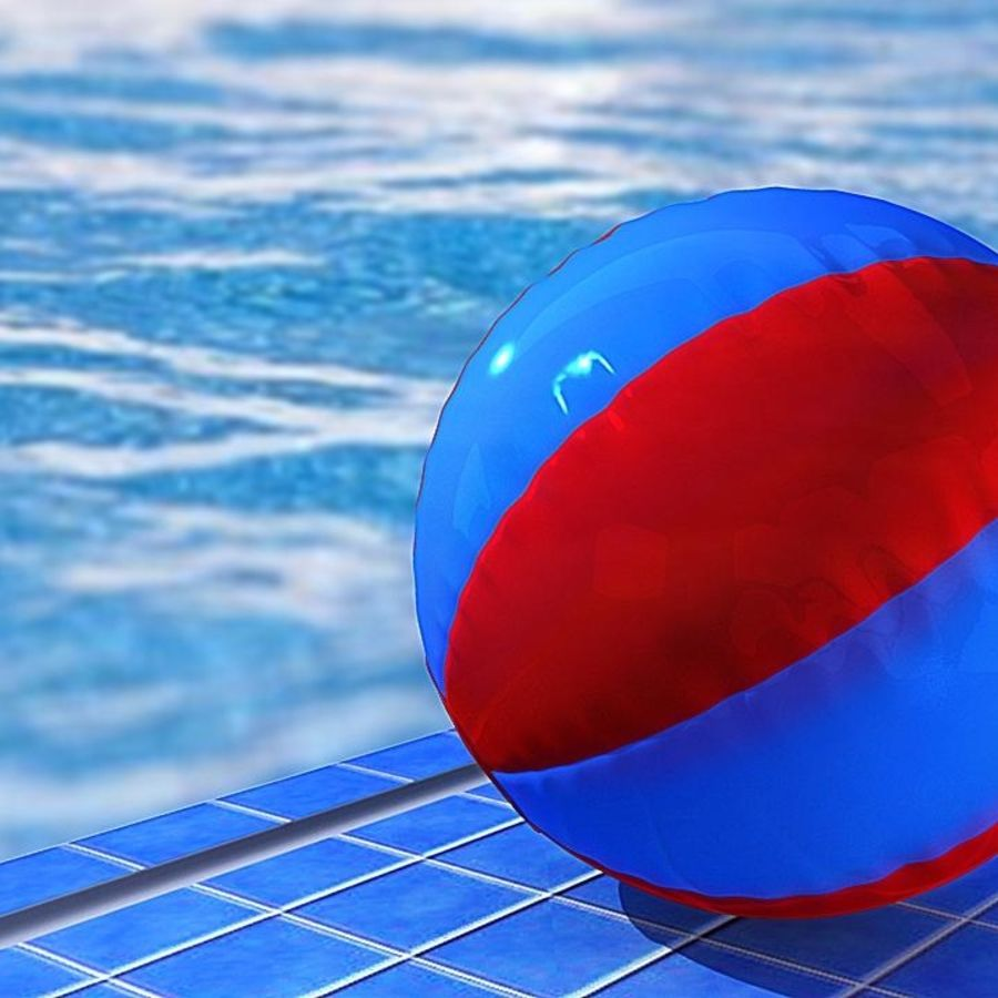 Beach Ball royalty-free 3d model - Preview no. 13