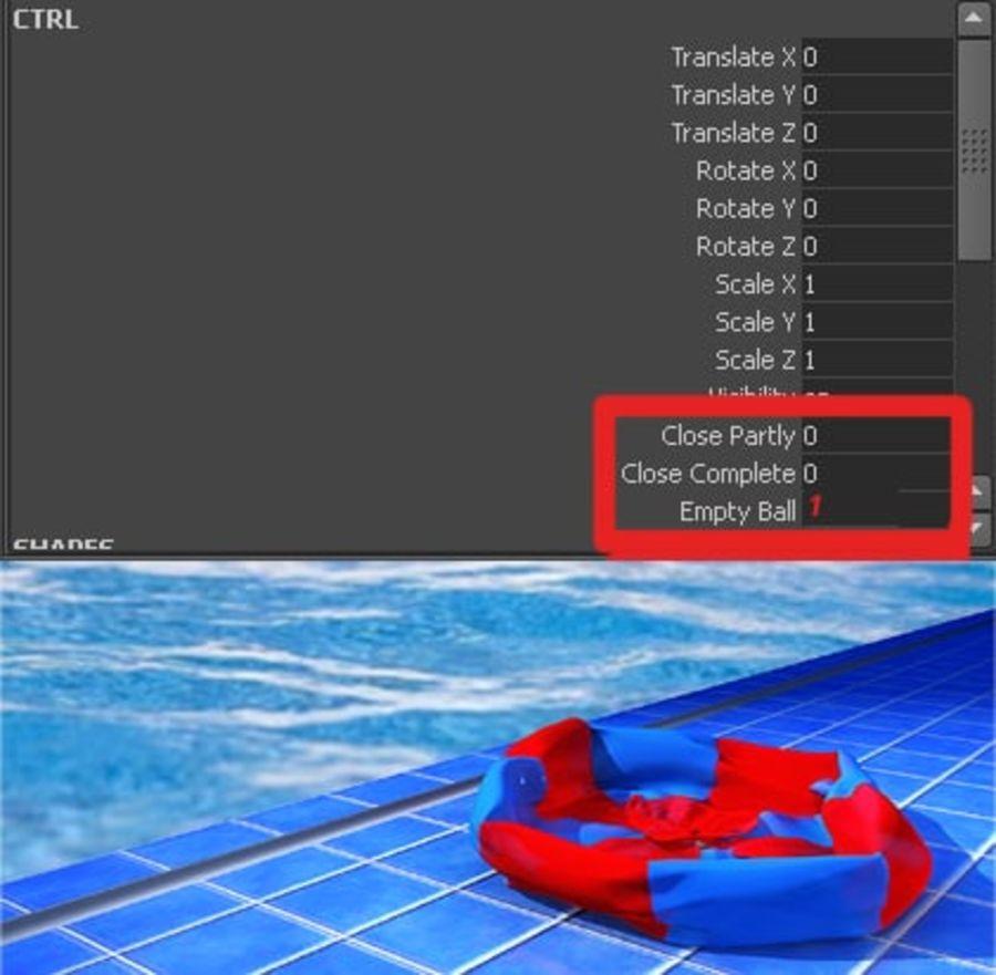 Pelota de playa royalty-free modelo 3d - Preview no. 16