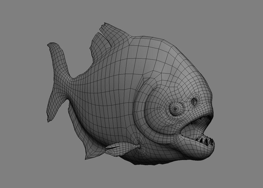 Piranha royalty-free 3d model - Preview no. 3