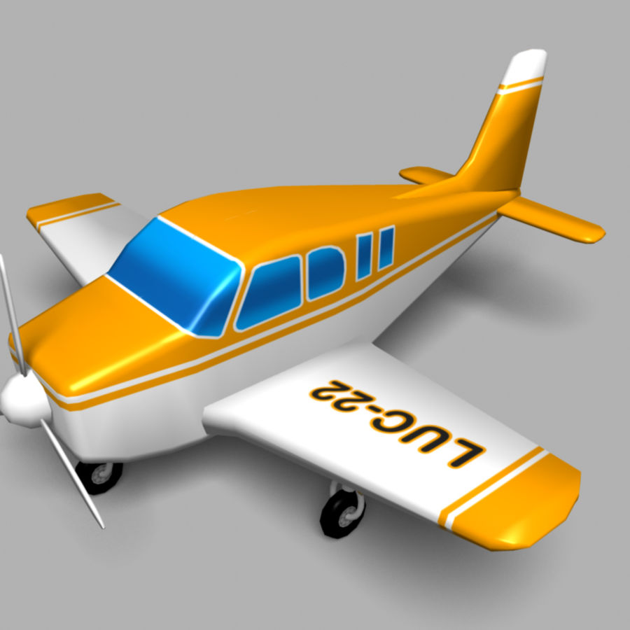 Toy small plane royalty-free 3d model - Preview no. 1