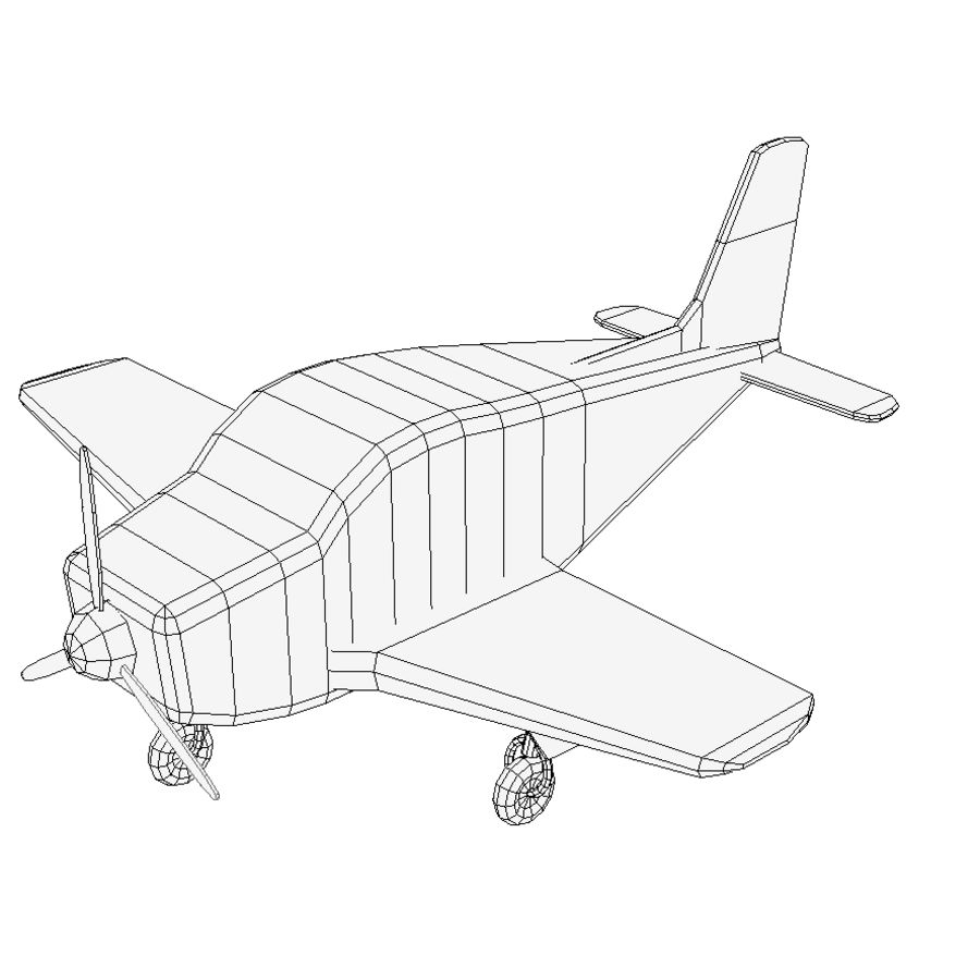 Toy small plane royalty-free 3d model - Preview no. 3