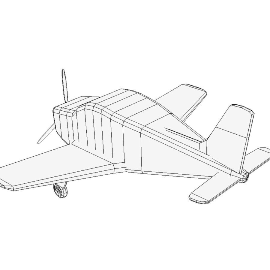Toy small plane royalty-free 3d model - Preview no. 4
