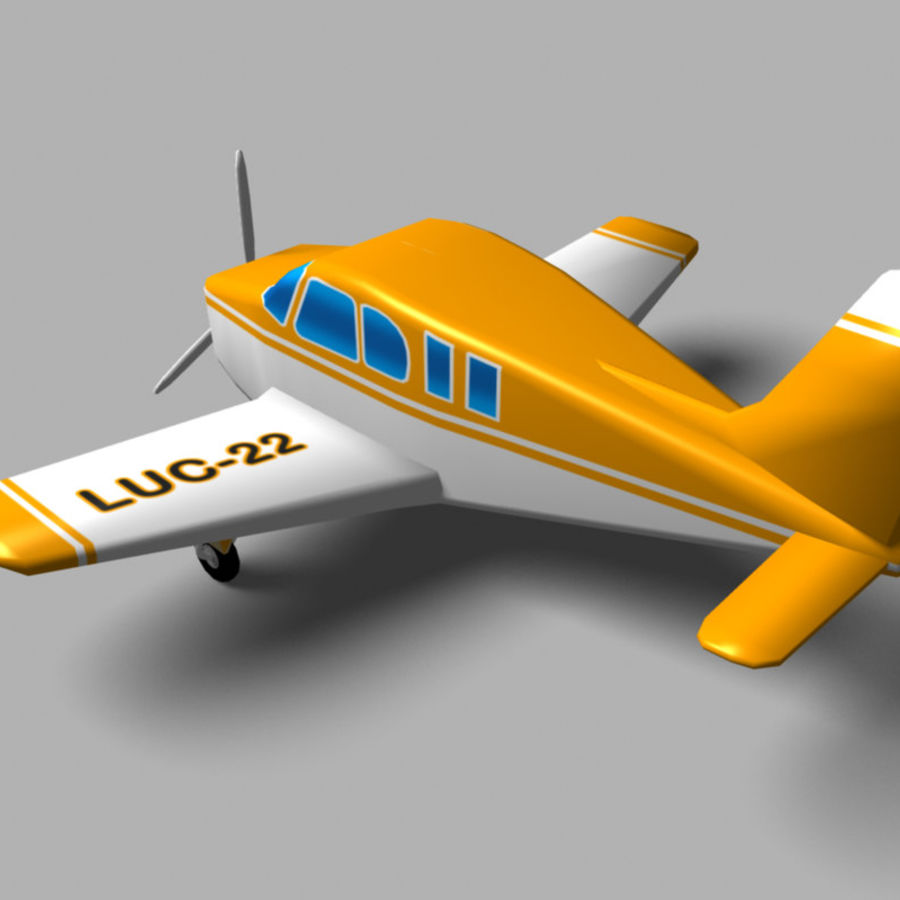 Toy small plane royalty-free 3d model - Preview no. 2