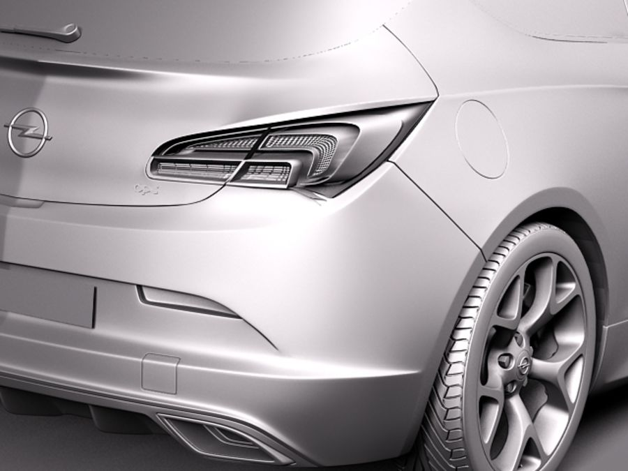 Opel Astra OPC 2013 royalty-free 3d model - Preview no. 10