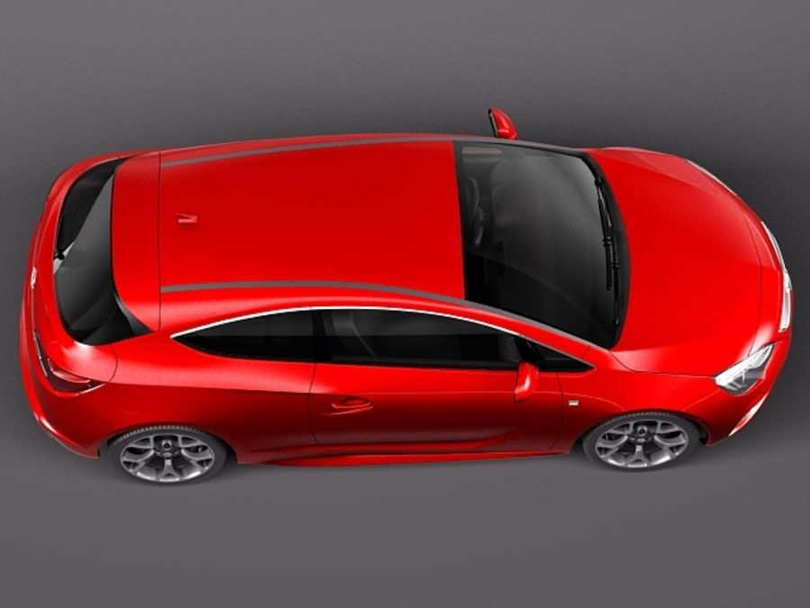 Opel Astra OPC 2013 royalty-free 3d model - Preview no. 8