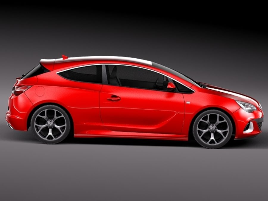 Opel Astra OPC 2013 royalty-free 3d model - Preview no. 7