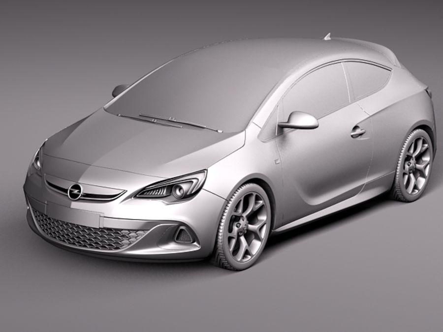Opel Astra OPC 2013 royalty-free 3d model - Preview no. 12