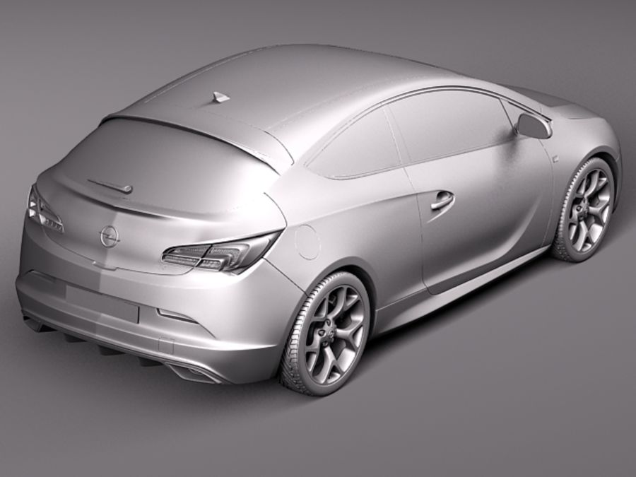 Opel Astra OPC 2013 royalty-free 3d model - Preview no. 9