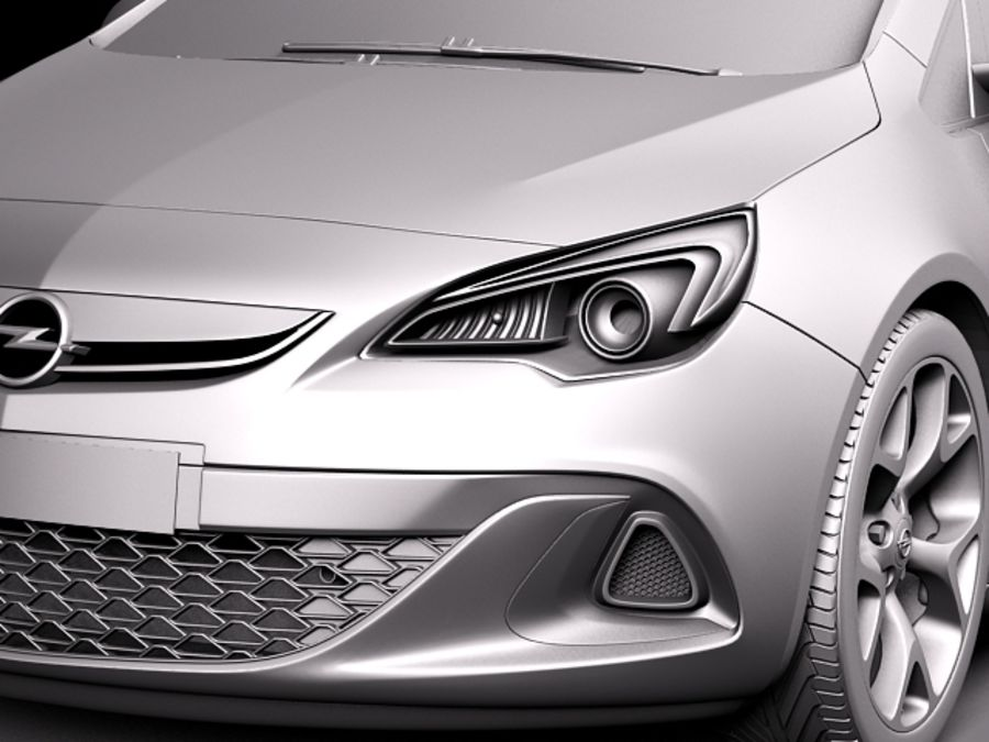 Opel Astra OPC 2013 royalty-free 3d model - Preview no. 11