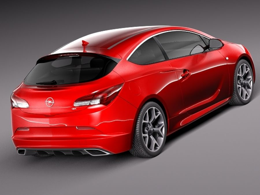 Opel Astra OPC 2013 royalty-free 3d model - Preview no. 6