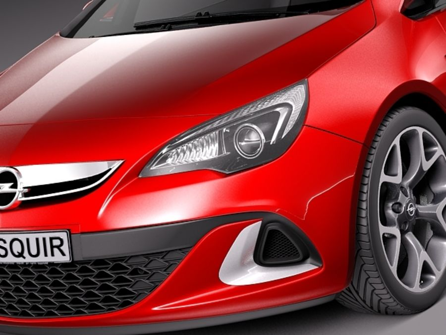 Opel Astra OPC 2013 royalty-free 3d model - Preview no. 3