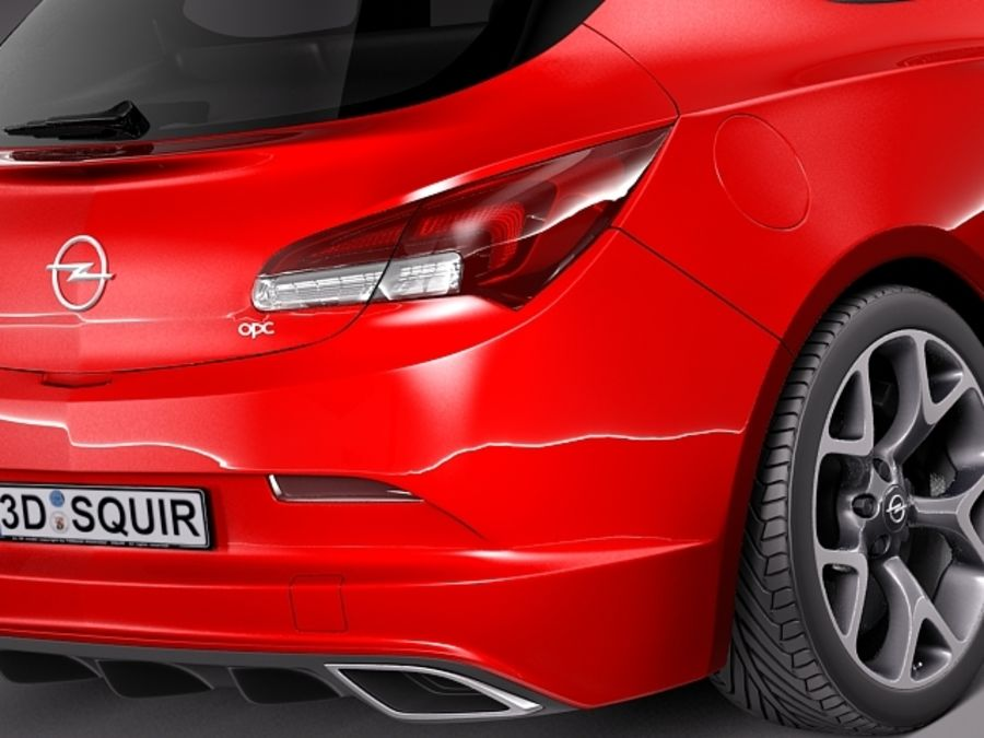 Opel Astra OPC 2013 royalty-free 3d model - Preview no. 4