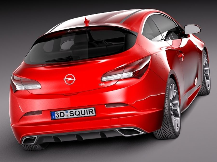 Opel Astra OPC 2013 royalty-free 3d model - Preview no. 5