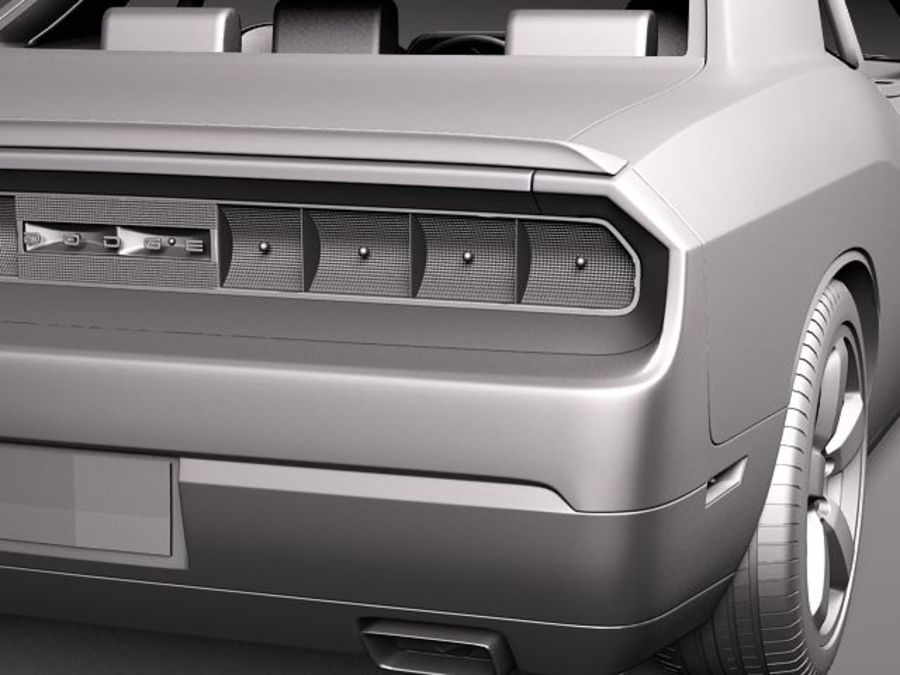 Dodge Challenger SRT8 392 2012 royalty-free 3d model - Preview no. 11
