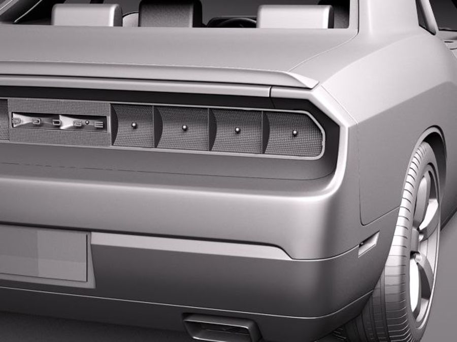 Dodge Challenger SRT8 392 2012 royalty-free modelo 3d - Preview no. 11