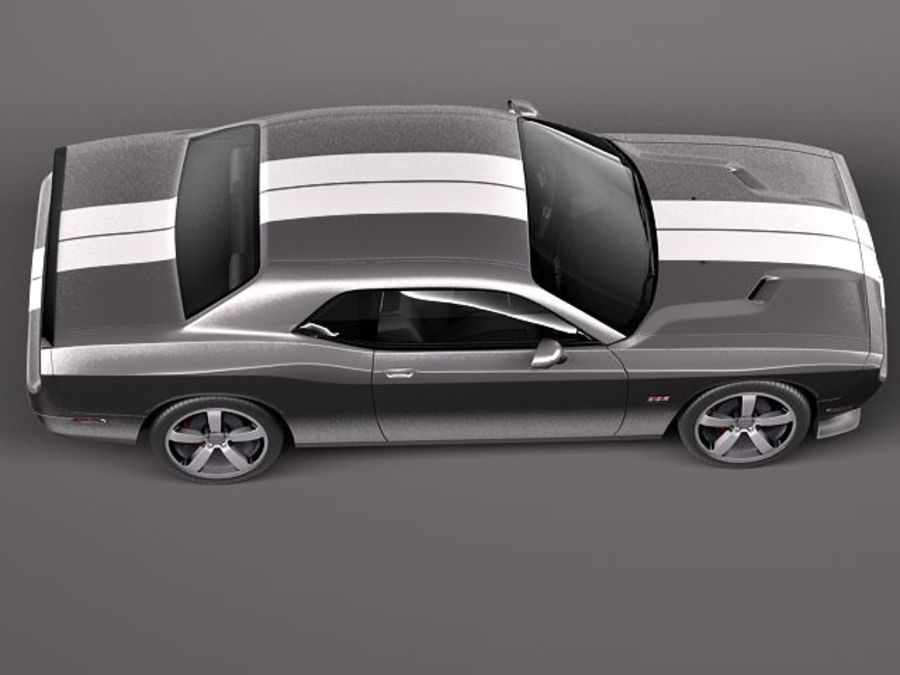 Dodge Challenger SRT8 392 2012 royalty-free 3d model - Preview no. 8
