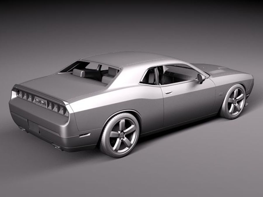 Dodge Challenger SRT8 392 2012 royalty-free 3d model - Preview no. 10