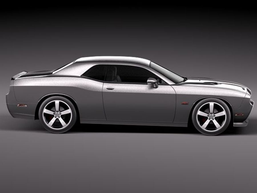 Dodge Challenger SRT8 392 2012 royalty-free 3d model - Preview no. 7