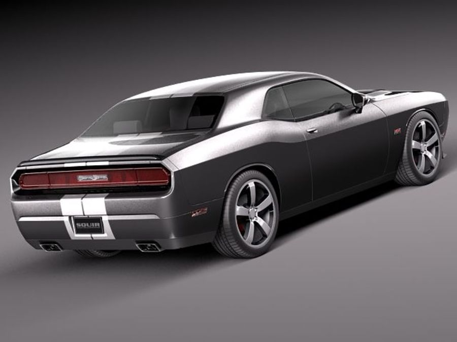 Dodge Challenger SRT8 392 2012 royalty-free 3d model - Preview no. 6