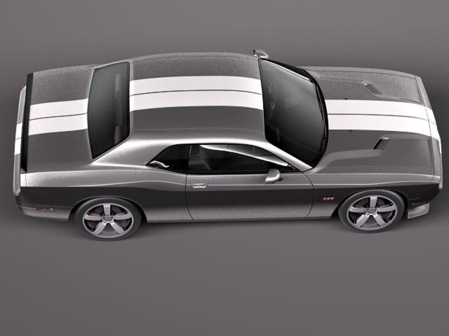 Dodge Challenger SRT8 392 2012 royalty-free modelo 3d - Preview no. 8