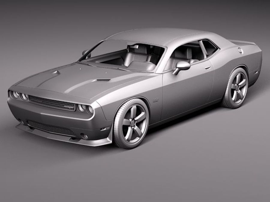 Dodge Challenger SRT8 392 2012 royalty-free 3d model - Preview no. 13