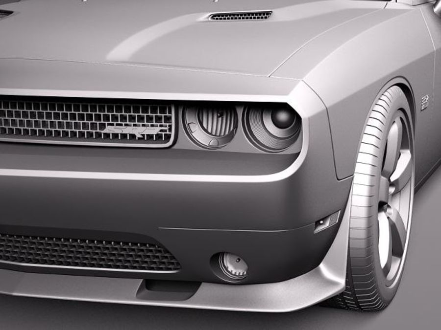 Dodge Challenger SRT8 392 2012 royalty-free modelo 3d - Preview no. 12