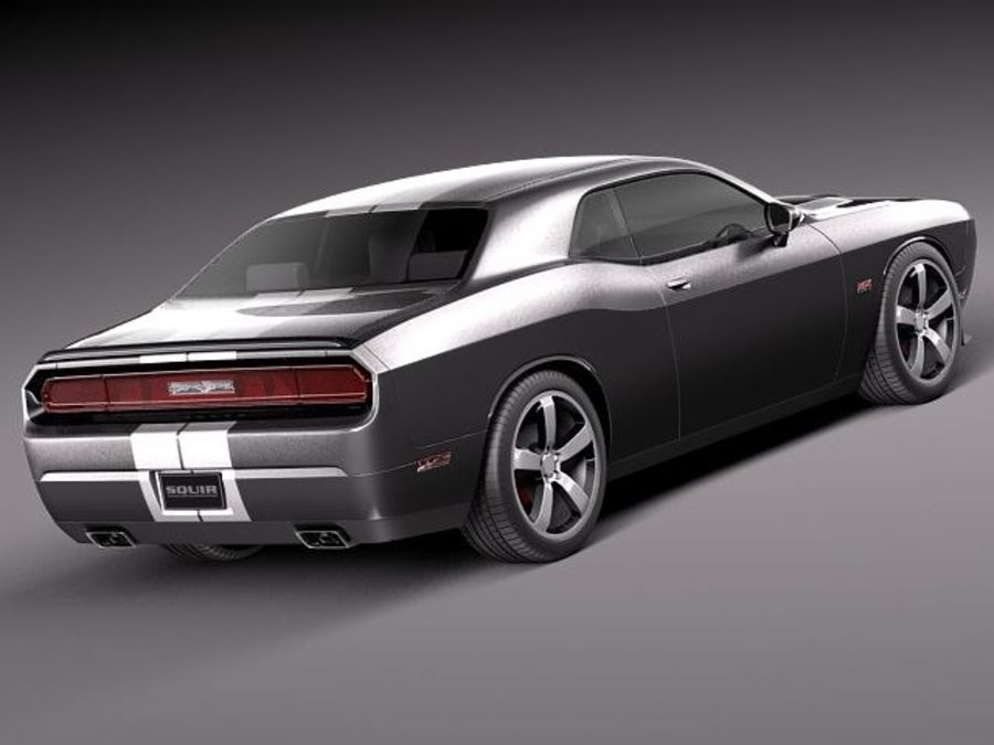 Dodge Challenger SRT8 392 2012 royalty-free modelo 3d - Preview no. 6