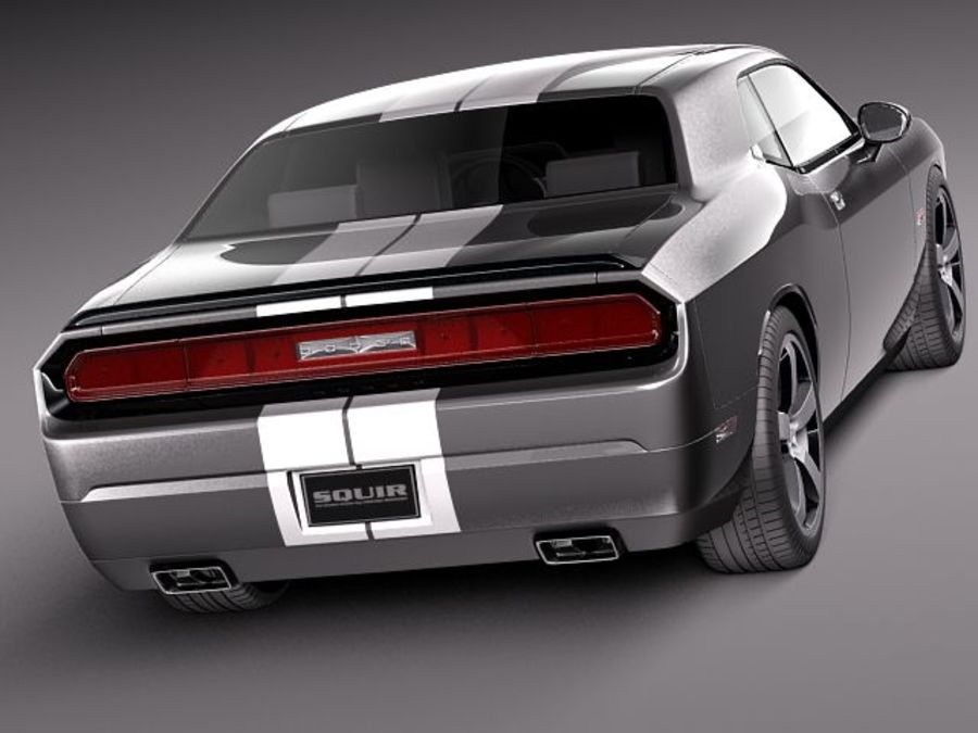 Dodge Challenger SRT8 392 2012 royalty-free 3d model - Preview no. 5