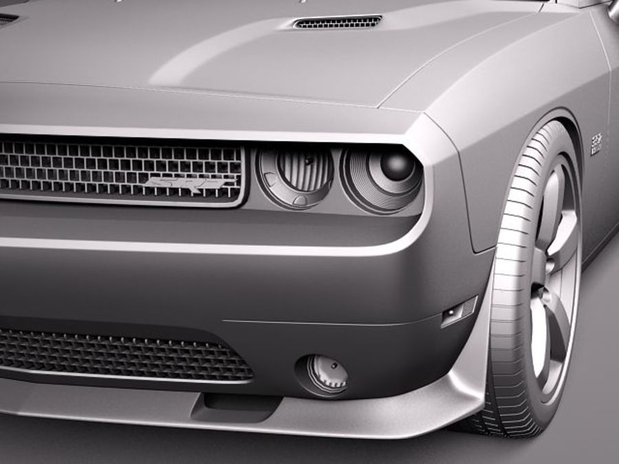 Dodge Challenger SRT8 392 2012 royalty-free 3d model - Preview no. 12