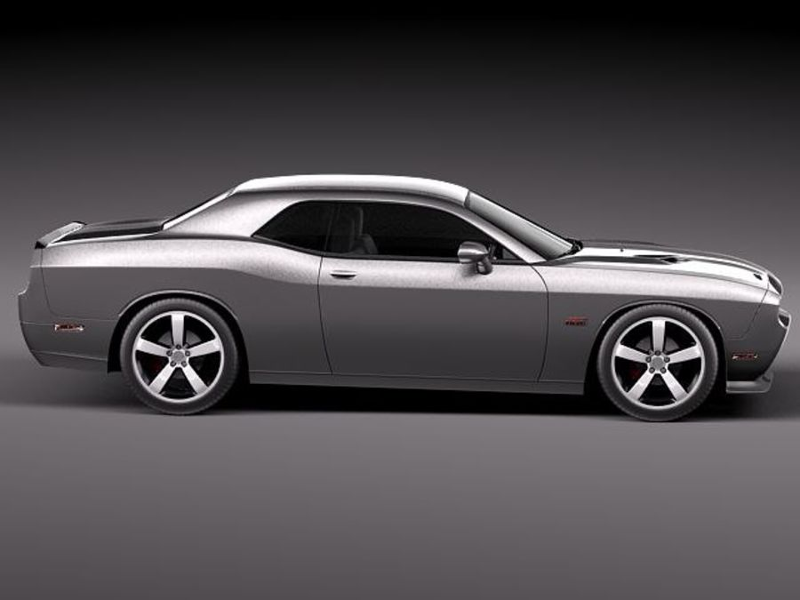 Dodge Challenger SRT8 392 2012 royalty-free modelo 3d - Preview no. 7